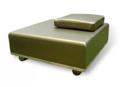 Mesa de centro-taburete Hill tapizada
